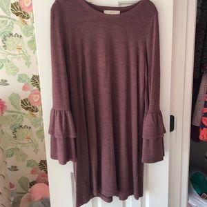 Loft Bell Sleeve Knit Dress